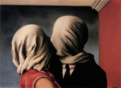 beso a ciegas Los amantes Rene Magritte
