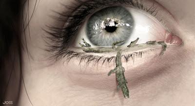 ojos con cocodriloa