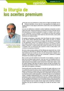 LALITURGIA DE LOS ACEITES PREMIUM, OLEUM XAUEN