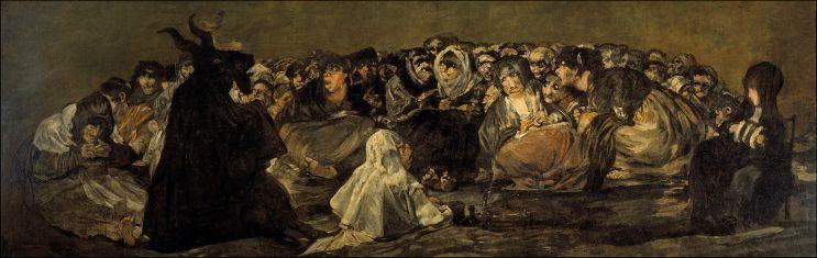 El aquelarre (1823). Francisco de Goya.