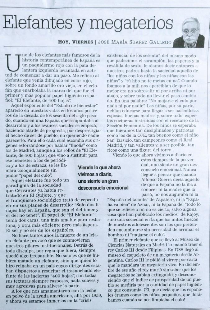 ARTICULO ELEFANTES EN DIARIO JAEN