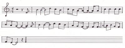 partitura romance de San Isidro