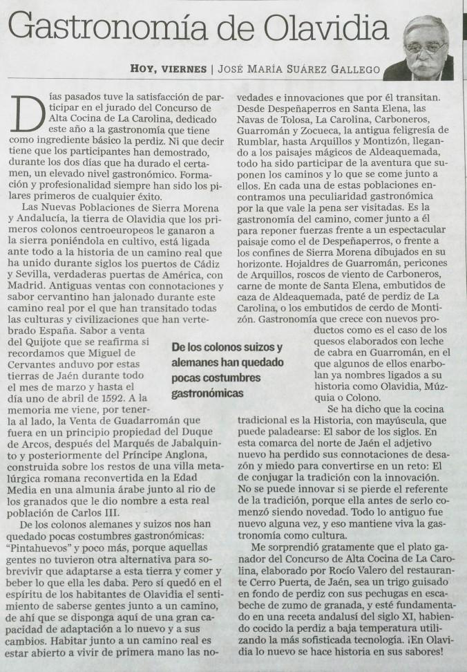ARTICULO GASTRONOMIA DE OLAVIDIA