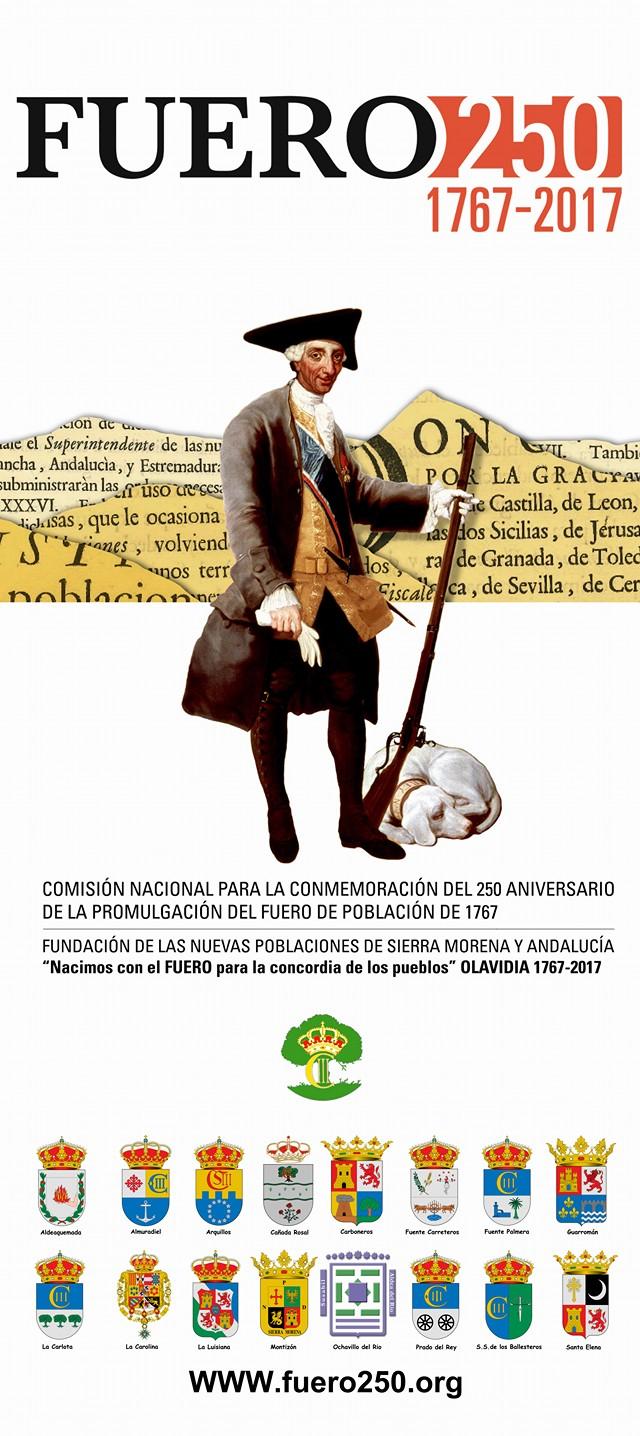 CARTEL DE FUERO 250 CON ESCUDOS DE TODOS LOS PUEBLOS